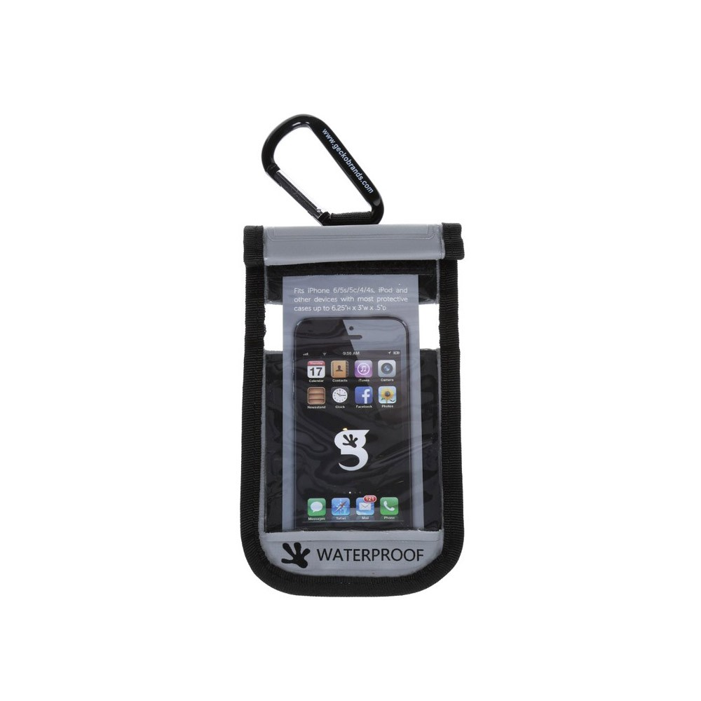 Gecko iPhone Drybag Grey - Front