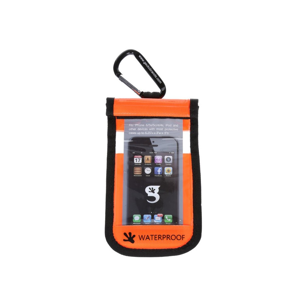 Gecko iPhone Drybag Orange - Front