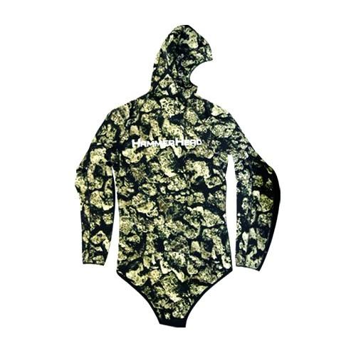 Hammerhead Volcano 3D Wetsuit Top Back
