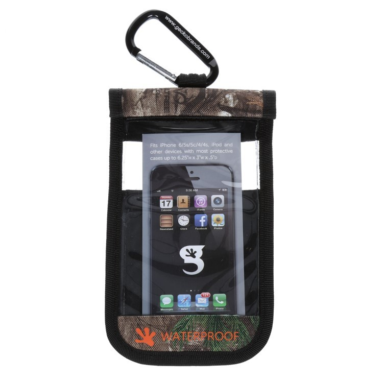 Gecko iPhone Drybag RealTree - Front