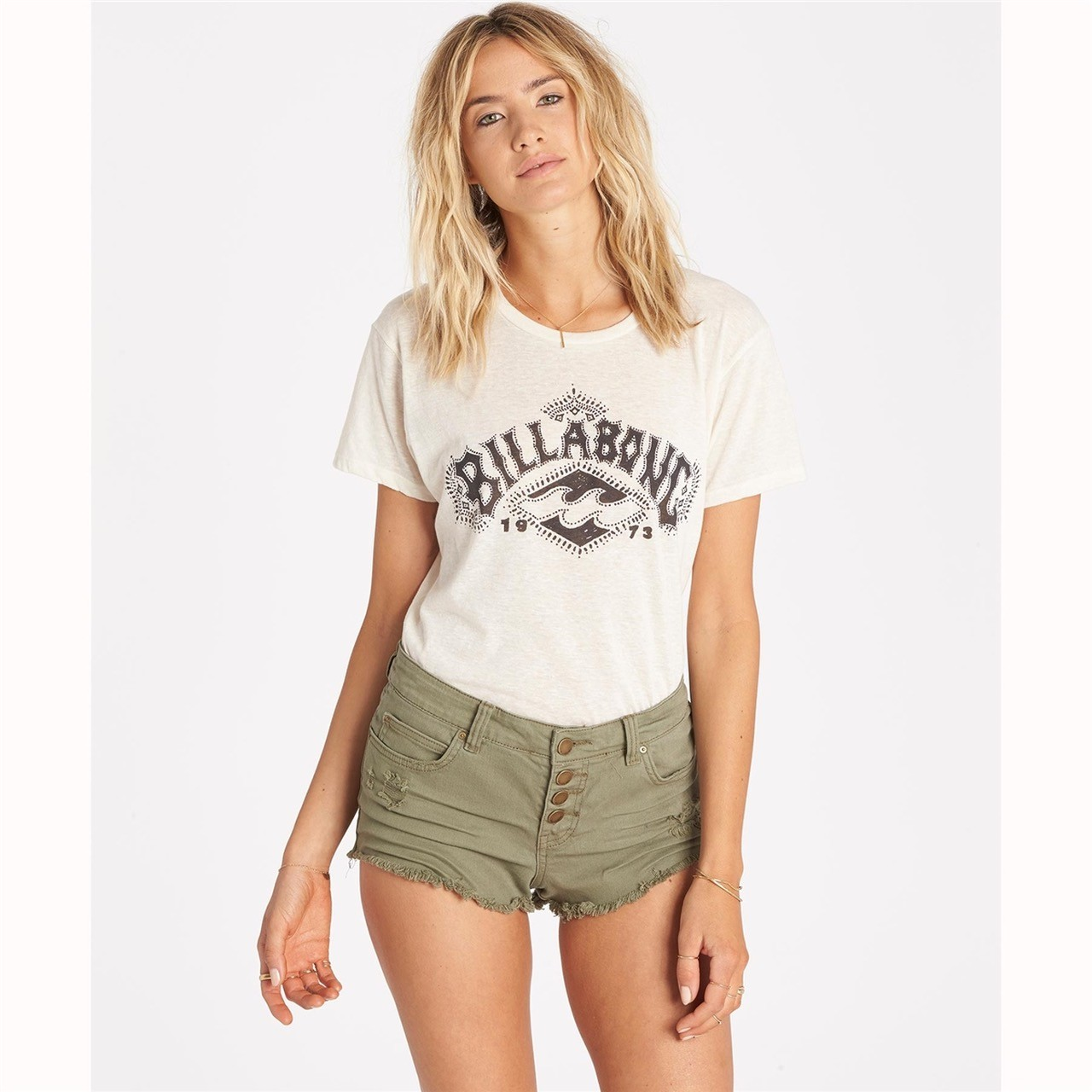 Billabong Buttoned Up Denim Shorts (Women's)