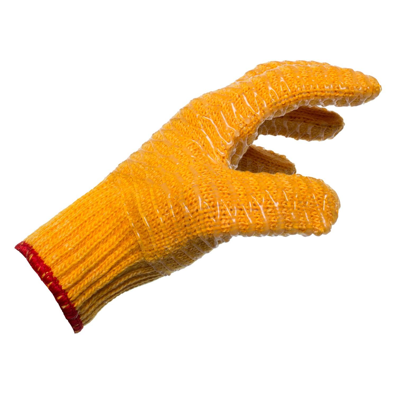 orange lobstering gloves Side