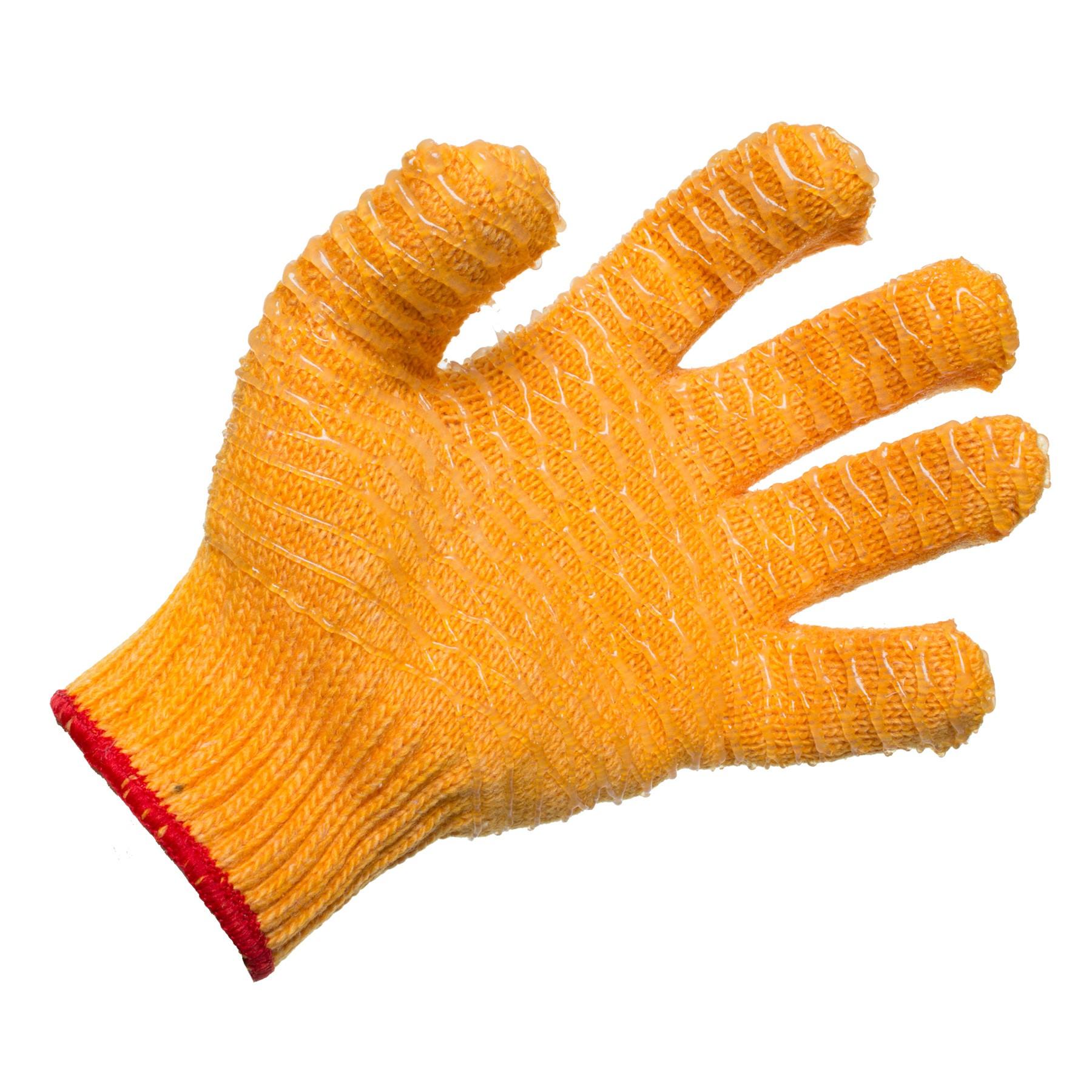 orange lobstering gloves Palm