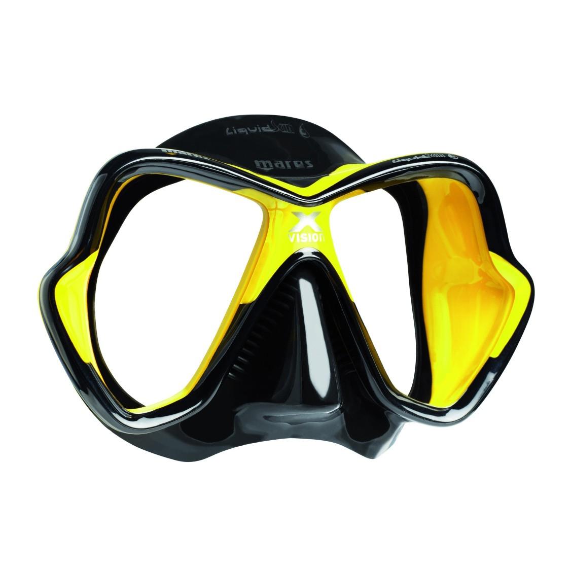 Mares X Vision Liquidskin Mask Black Yellow