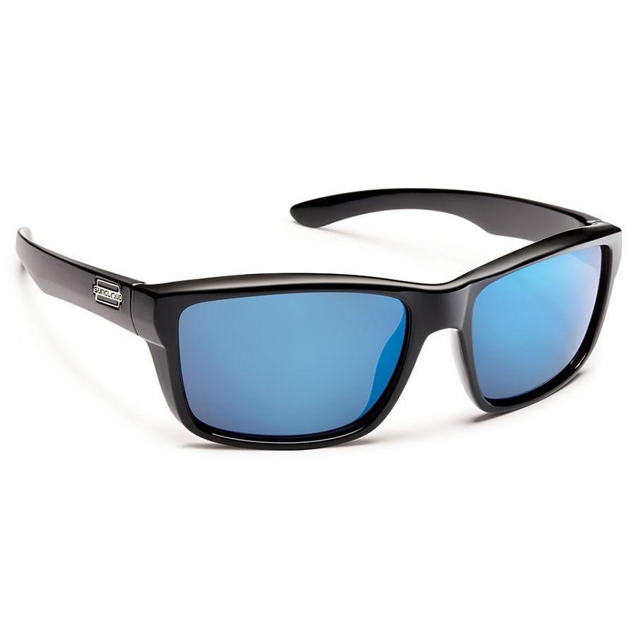 f4ee8feb3b Suncloud Mayor Polarized Polycarbonate Sunglasses (Unisex) - Black Blue  Mirror - Divers Direct