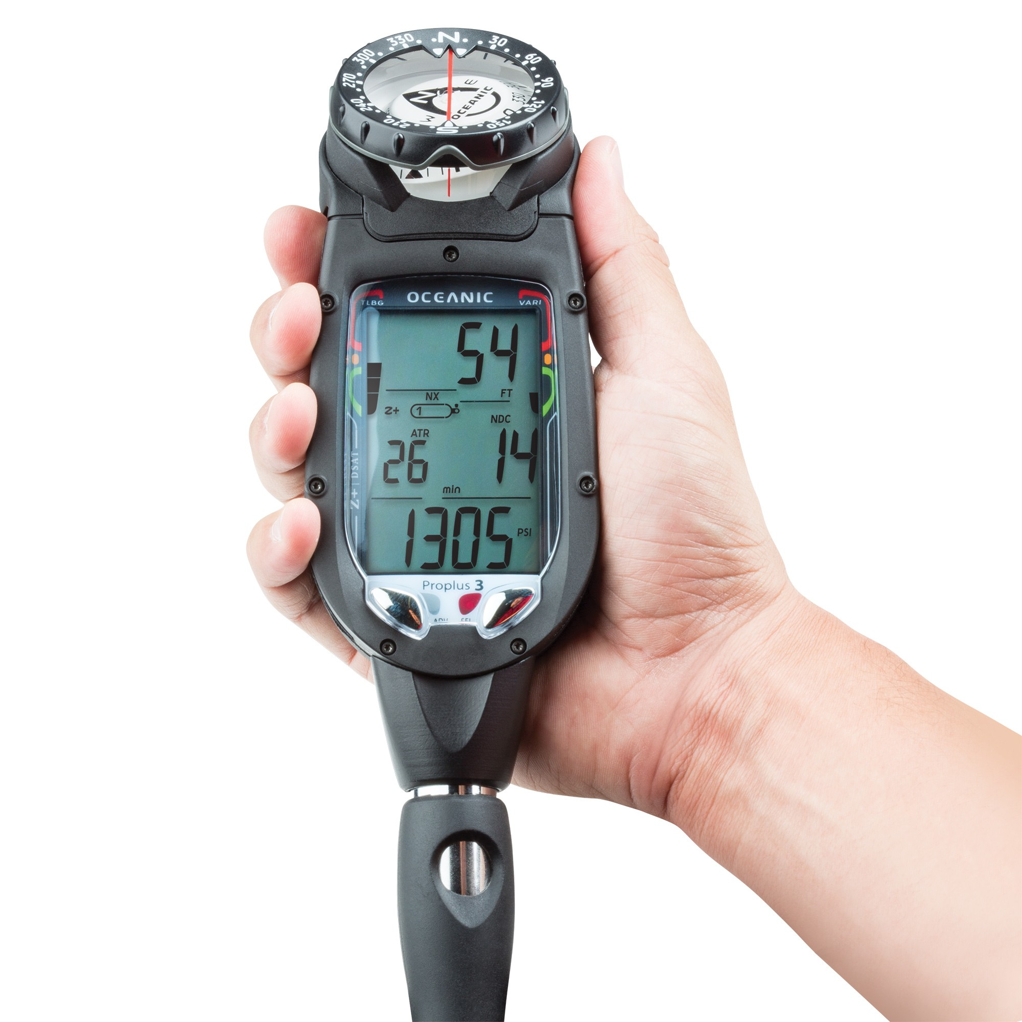 OCEANIC PRO PLUS 3 DELUXE, WITH QD, COMPASS AND USB CABLE in Hand