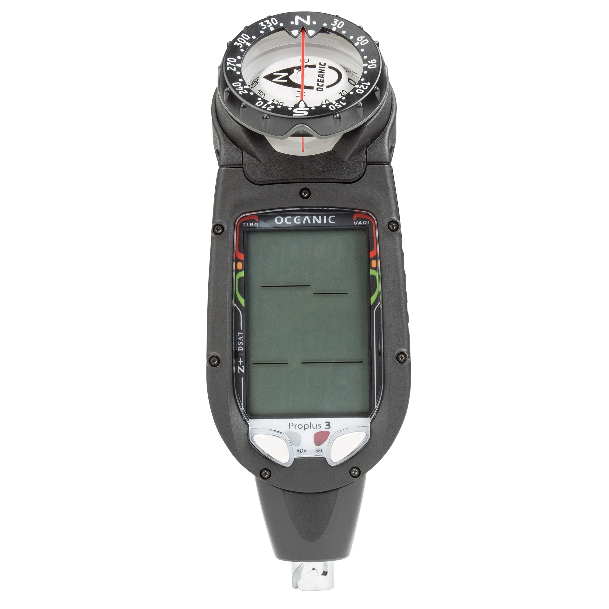 OCEANIC PRO PLUS 3 DELUXE, WITH QD, COMPASS AND USB CABLE Front