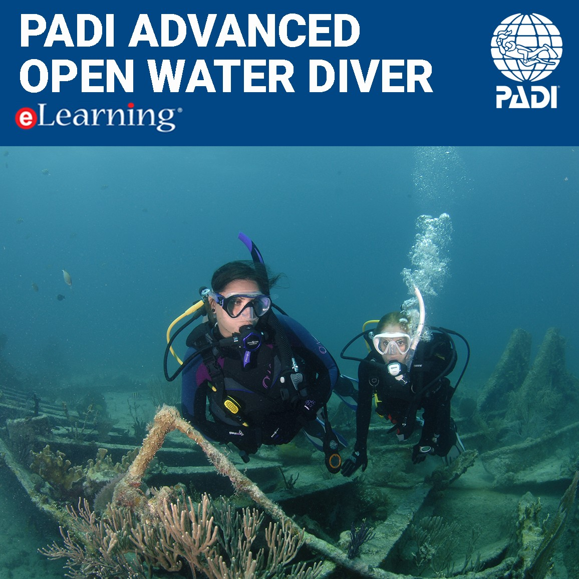 Padi Advanced Open Water Diver Elearning Online Certification Pak