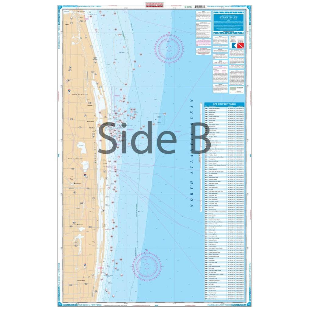 Palm Beach to Fort Pierce Fishing Chart