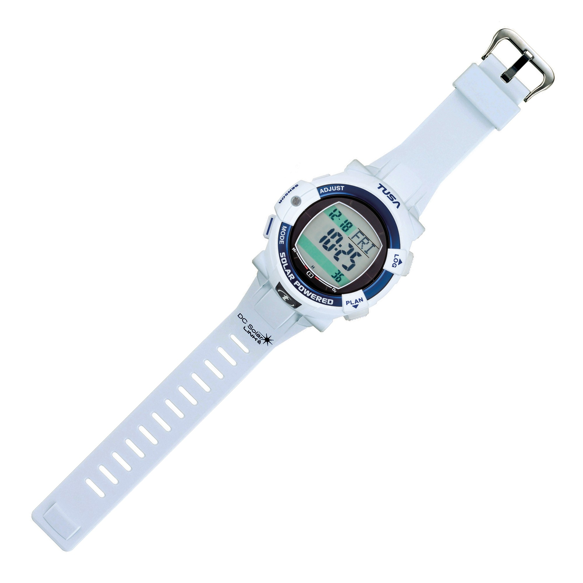 Tusa DC Solar Link Dive Computer & Watch White