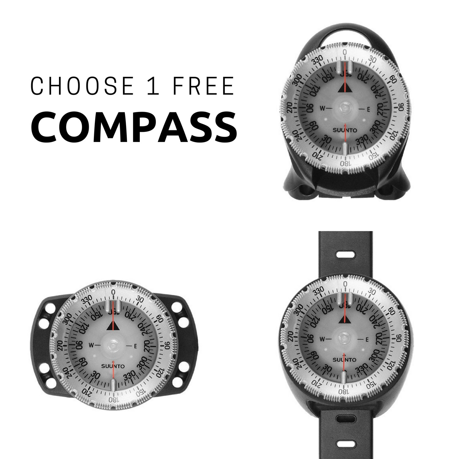 Suunto Zoop Novo Wrist Dive Computer with FREE Compass - Limited Time Offer!