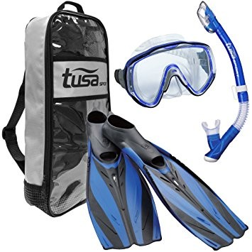 Tusa Visualator Adult Snorkeling Set - Royal Blue