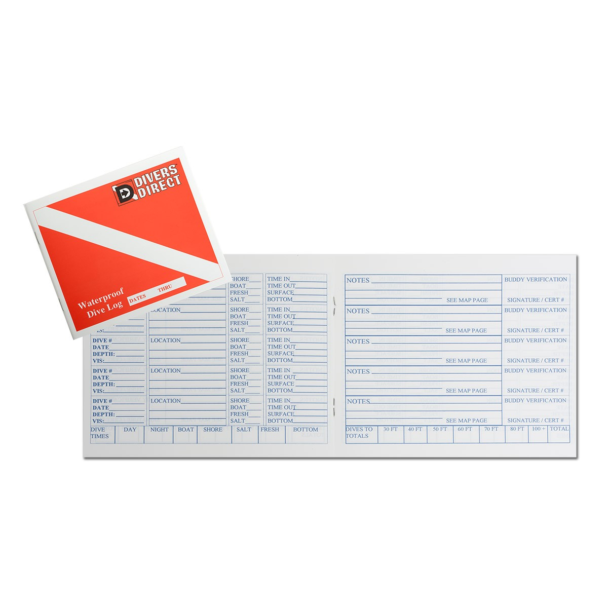 Waterproof dive log book divers direct - Dive log book ...