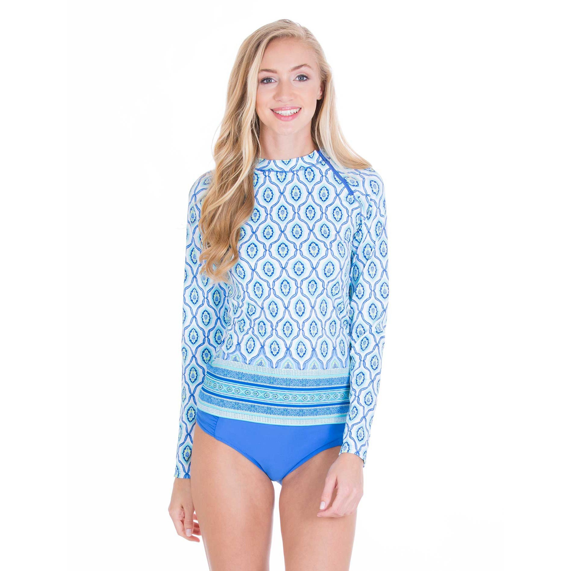 Cabana Life Bora Bora Zipper +50 UPF Long-Sleeved Rashguard (Women's)