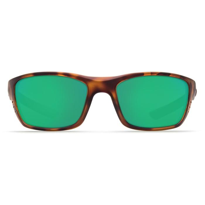 Costa Whitetip 580P Polarized Polycarbonate Sunglasses (Unisex) - Retro Tortoise/Green Mirror