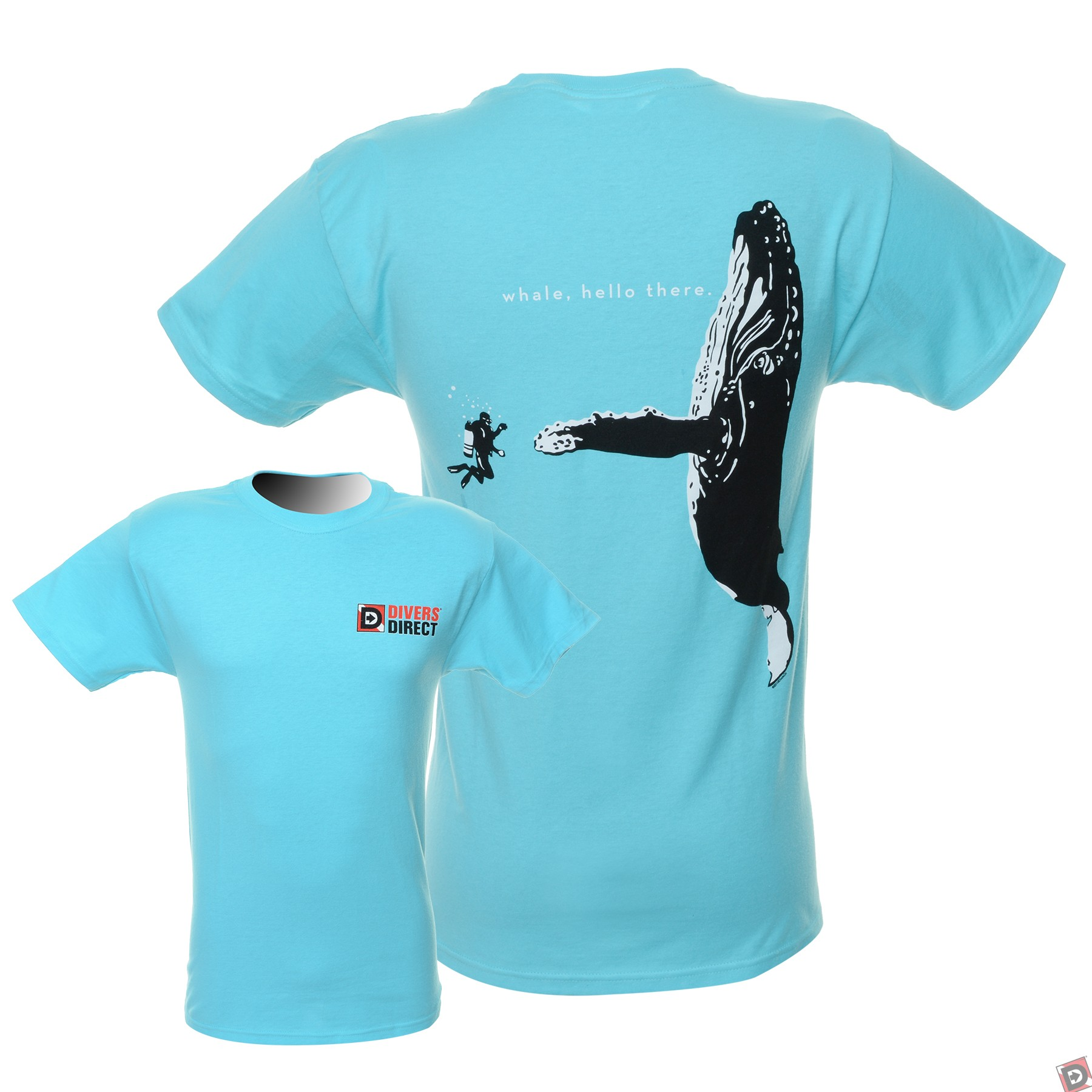 Whale hello there dive t shirt for Whale emblem on shirt