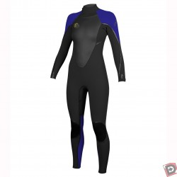 O'Neill Women's D-LUX 3Q-Zip 4/3 FSW Full Wetsuit