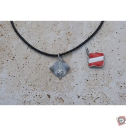 Image from stingray with dive flag necklace