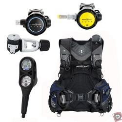 Used Aqua Lung Axiom i3 Package: BCD, Core Scuba Regulator and Octo, with i300 3 Gauge Console