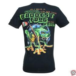 baddest frog dive t shirt back