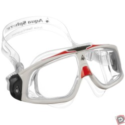 Image from Aqua Sphere Seal 2.0 Goggles - White/ Red/ Clear