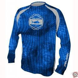 Pelagic Vaportek Men's Long Sleeve Shirt - Royal Reefer