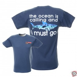 """Image from """"The Ocean is Calling"""" Dive T Shirt"""