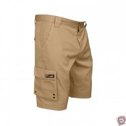 Image from Pelagic Dri-Flex Hybrid Shorts Khaki - Side