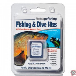 Florida Go Fishing GPS Fishing & Dive Sites Memory Card - St. Lucie & Indian River County