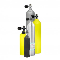 Image from Luxfer Aluminum Pony Bottle Tank - 6CF, 13CF, 19CF, 30CF, 40CF