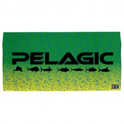Image from Pelagic Logo Cotton Beach Towel - Green Dorado