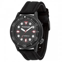 Image from Freestyle Ballistic Diver Analog Dive Watch (Men's) -- Black/Red
