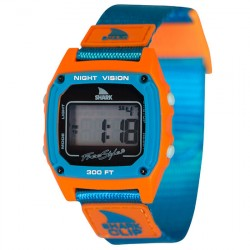 Image from Freestyle Shark Classic Clip LCD Dive Watch (Unisex) -- Blue/Orange