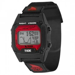Image from Freestyle Shark Clip Tide LCD Dive Watch (Unisex) - Black/Red
