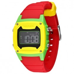 Image from Freestyle Shark Classic LCD Dive Watch (Unisex) - Yellow/Green/Red