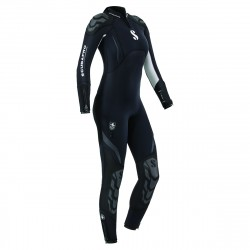 Image from ScubaPro 5/4 MM Everflex Rear-Zip Full Steamer Wetsuit (Women's)