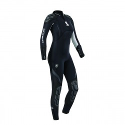 Image from ScubaPro 7/5 MM Everflex Rear-Zip Full Steamer Wetsuit (Women's)