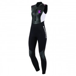 Image from Scubapro 3mm Hybrid Farmer Jane Front-Zip Sleeveless Steamer Wetsuit (Womens)