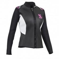 Image from ScubaPro 3mm Hybrid Front-Zip Bolero Jacket (Women's)