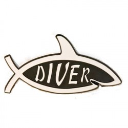 Image from Shark Diver Car Emblem