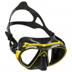 Image from Cressi Air Black Dive Mask - Black/Yellow