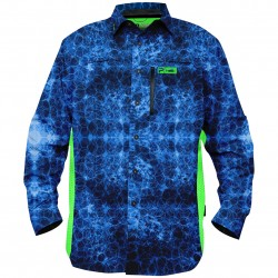 Image from Pelagic Eclipse Pro Series +50 UPF Vented Sunshirt Blue