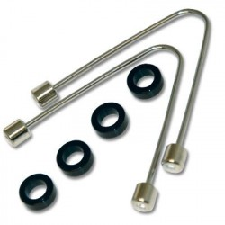 Image from Small Ball Wishbones Pair Plus 4 Rings