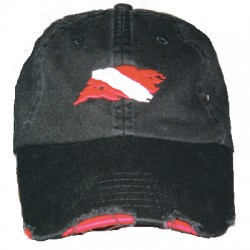 Image from Amphibious Outfitters Distressed Dive Flag Hat
