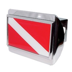 Image from Chrome Dive Flag Trailer Hitch Cover