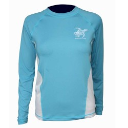Image from Tormenter Turtle Womens Long Sleeve Rash Guard Aqua