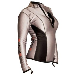 Image from Sharkskin Womens Zip Front Long Sleeve Top