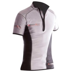 Image from Sharkskin Mens Zip Front Short Sleeve Top
