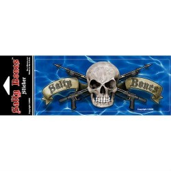 Image from Salty Bones Blue Water Crossed Spearguns Decal