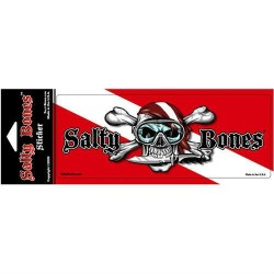 Image from Salty Bones Skull and Crossbones Dive Flag Decal
